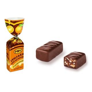 """Конфеты Рахат """"Грильяж апельсиновый в шоколаде"""" 1 кг"""