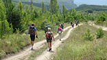 Поход в горах Крыма через горы к морю пешком