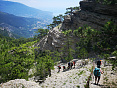 Поход по горам Крыма, маршрут через горы к морю