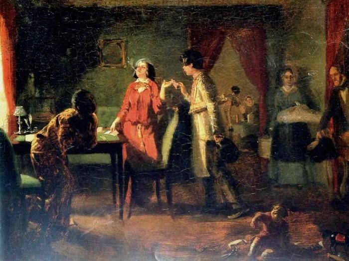 П. Федотов. Жена-модница (Львица), 1849   Фото: artvek.ru