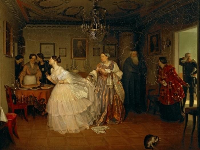 П. Федотов. Сватовство майора, 1848 | Фото: art-portrets.ru