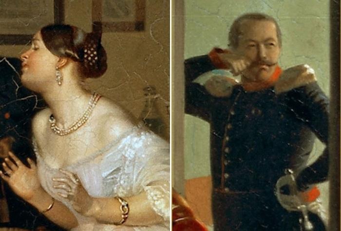 П. Федотов. Сватовство майора, 1848. Фрагменты   Фото: art-portrets.ru