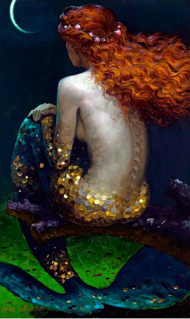 Siren song - Victor Nizovtsev 1965 - Russian Fantasy painter - Tutt'Art@ (7).jpg