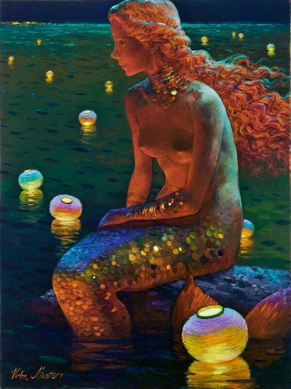 Siren song - Victor Nizovtsev 1965 - Russian Fantasy painter - Tutt'Art@ (6).jpg