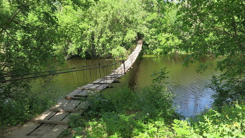 Мостик через реку Елань в Саратовской области