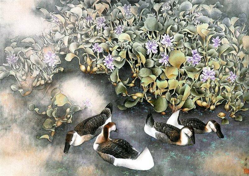 Китайская живопись - художник Shen Wei