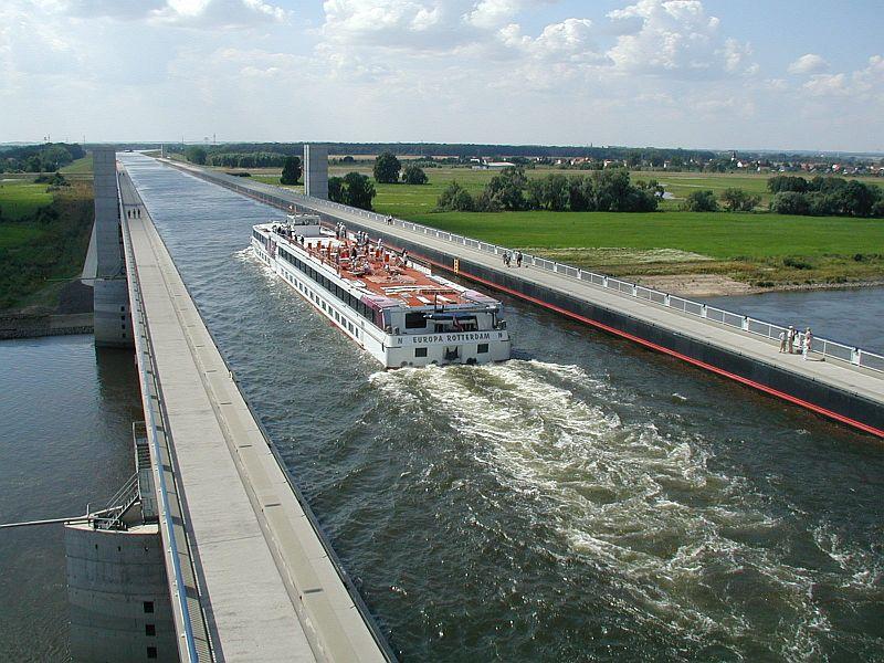 Магдебургский водный мост (Magdeburg Water Bridge), Германия