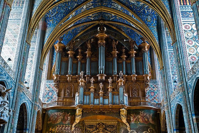 10. Собор Св. Сесилии (Альби, Франция) музыкальный инструмент, орган