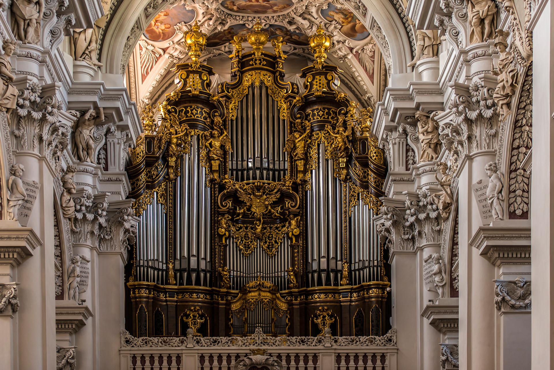 5. Собор Св. Стефана (Пассау, Германия). Крупнейший церковный орган Европы музыкальный инструмент, орган