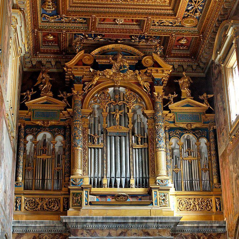 12. Собор Святого Иоанна Крестителя на Латеранском холме, Сан-Джованни ин Латерано (Рим, Италия) музыкальный инструмент, орган
