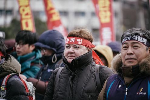 Южнокорейские профсоюзные активисты прячутся в офисах