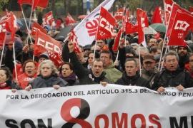 В Мадриде прошел 5-тысячный марш протеста против суда над профактивистами