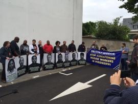 Рабочие Nissan организовали в Париже акцию протеста против антипрофсоюзной политики компании