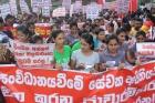 Шри-Ланка: тысячи рабочих протестуют против антипрофсоюзной дискриминации в СЭЗах
