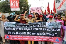В 4-ю годовщину смертоносного пожара на фабрике в Пакистане достигнуто историческое соглашение о компенсации
