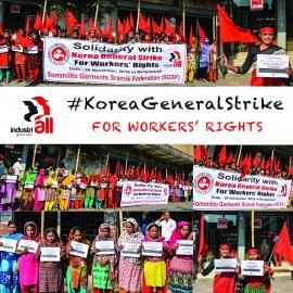 #KoreaGeneralStrike: Забастовка в Корее получила массовую поддержку со всего мира