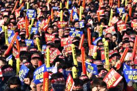 Корея: 4000 рабочих-металлистов протестуют против реструктуризации крупнейшего в мире судостроителя