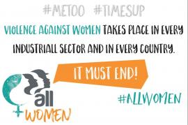 Международный женский день: профсоюзы должны действовать, чтобы покончить с насилием в отношении женщин на рабочем месте