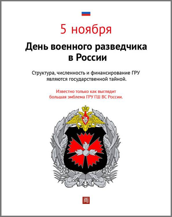5 ноября в России отмечается День военного разведчика