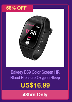 Bakeey B59 Color Screen HR Blood Pressure Oxygen Sleep Monitor APP Push Sport Modes Smart Watch