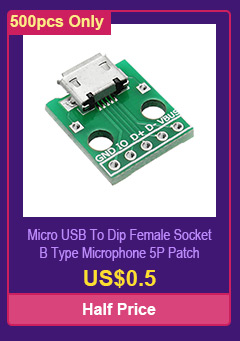 Micro USB To Dip Female Socket B Type Microphone 5P Patch