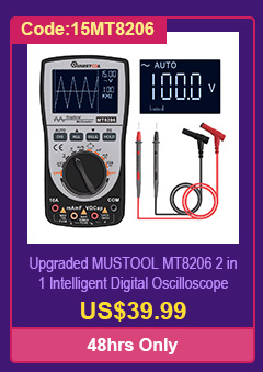 Upgraded MUSTOOL MT8206 2 in 1 Intelligent Digital Oscilloscope Multimeter