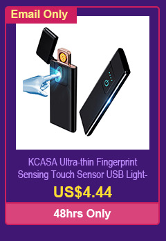 KCASA Ultra-thin Fingerprint Sensing Touch Sensor USB Lighter