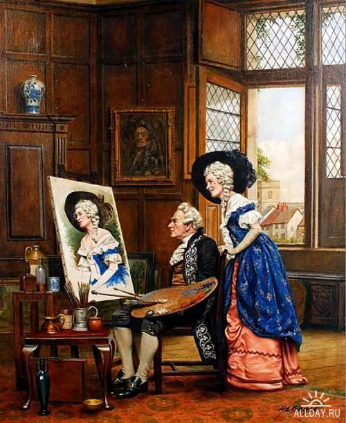 A.L.Grace (British, 19th Century) - Последние штрихи - The Finishing Touches