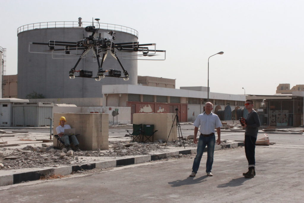 Испытания дрона в Дубаи