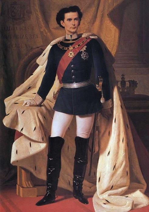 Коронационный портрет Людвига II Баварского. | Фото: upyourpic.org.