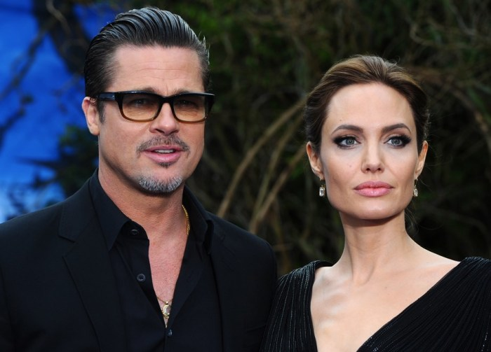 Брэд Питт и Анджелина Джоли. / Фото: www.elle.ru