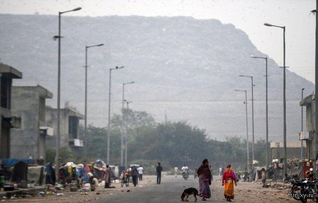 Свалка в Индии может угрожать самолетам (4 фото)