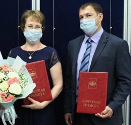 Тюменские единороссы наградили врачей, боровшихся с коронавирусом