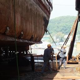 Ремонт судна в Ливадии