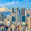 Токио. Панорамный вид и гора Фудзи