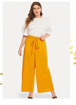SHEIN Большие брюки с поясом