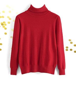 SHEIN Одноцветный свитер с высоким воротником