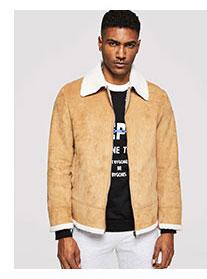 SHEIN Для мужчин куртка на молнии из искусственной шерсти