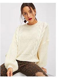 SHEIN Вязаный свитер с разрезами на спине