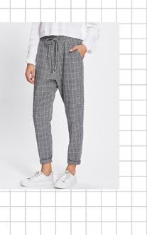 SHEIN Модные клетчатые брюки