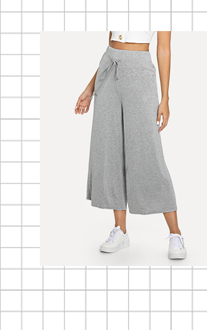 Свободные брюки с шнурками