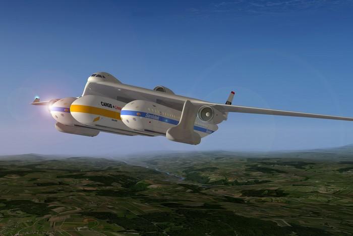 Clip-Air – самолет, который переносит по небу вагоны
