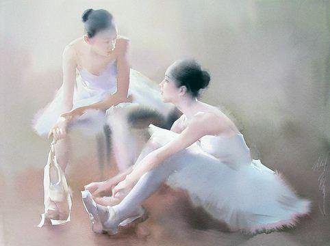 Художник Liu Yi. Акварель третья