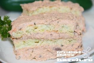 Кабачковые пирожные с рыбным кремом