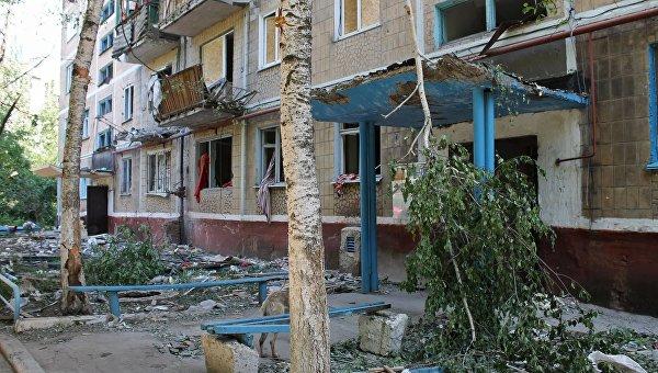 Последствия обстрела города Горловки Донецкой области