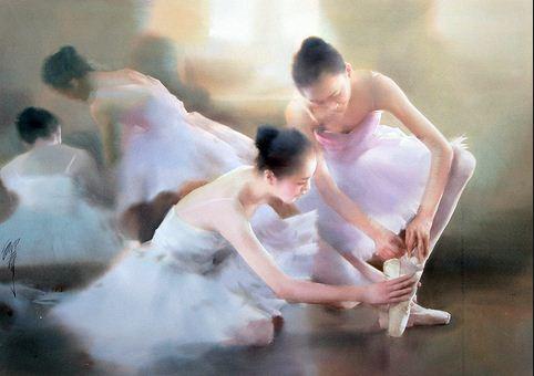Художник Liu Yi. Акварель шестая