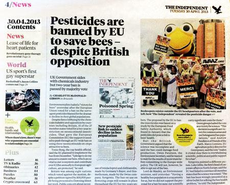 О Берни пишут в газете The Independent