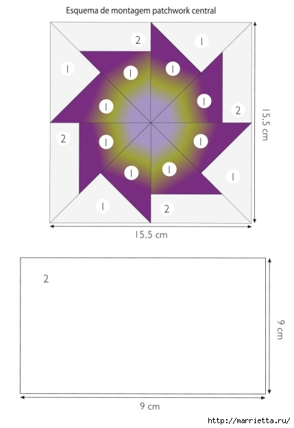 Пэчворк. Шьем сами покрывало и наволочки для подушек (7) (429x625, 61Kb)