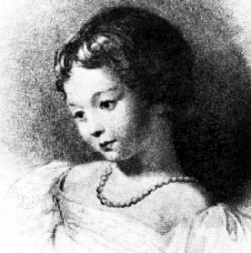Ада Августа Байрон в детстве