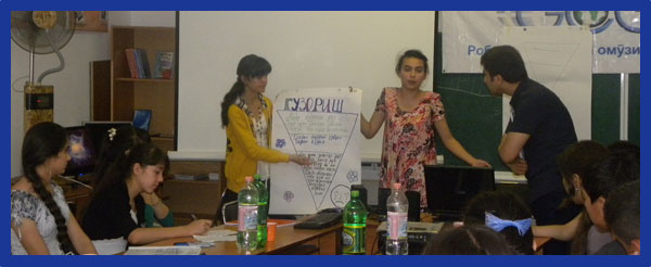 iEARN Tajikistan students in Dushanbe, part of the Global Connections and Exchange High School Journalism 2.0 Program